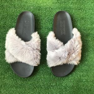 VS Pink Fuzzy Slippers